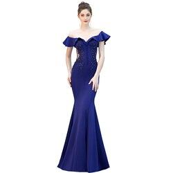 YIDINGZS просвечивающие аппликации бисером длинное вечернее платье с открытыми плечами элегантное вечернее платье YD16288
