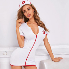 Sexy Lingerie Dress Headwear Costumes-Uniform Cosplay One-Piece Women Temptation Mini