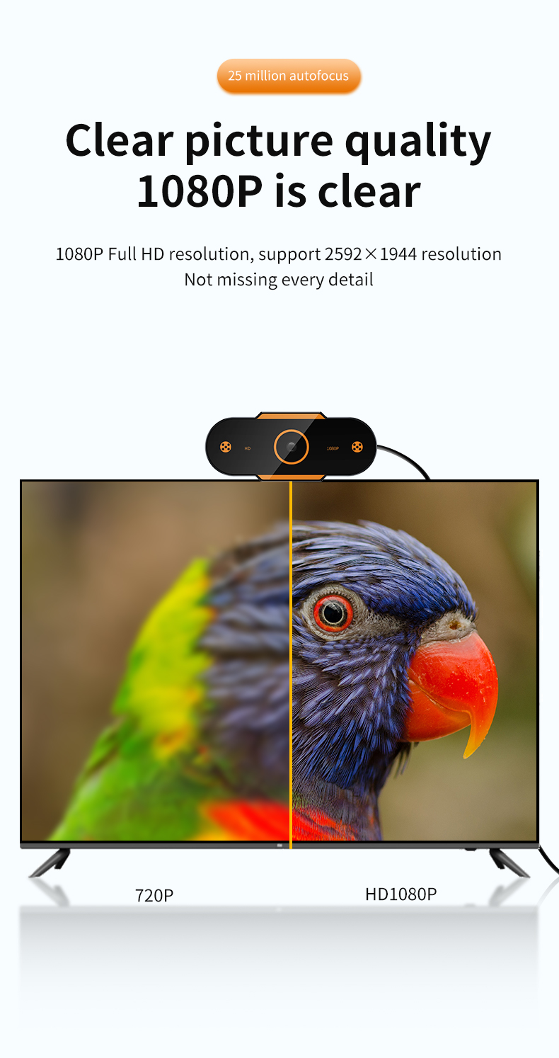 Animal - Auto Focus 1944P HD Webcam 1080P web camera With Microphone smart Webcams for Live Broadcast Video Calling Home Conference Work