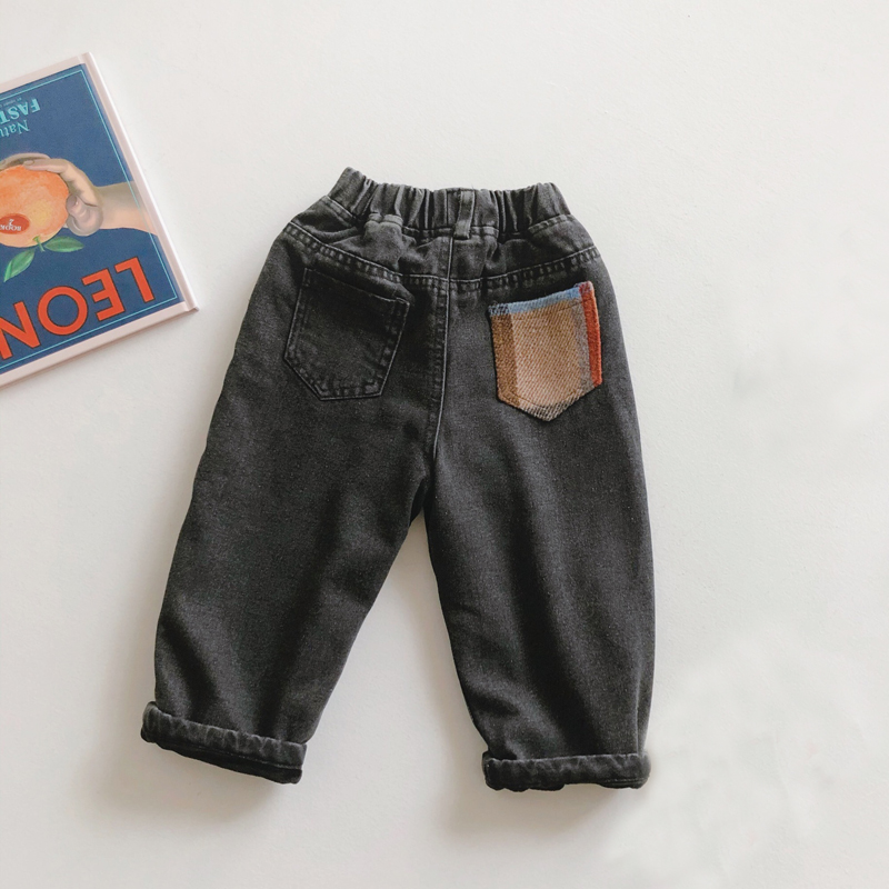 Boy Pants Kids Spring Autumn Clothes Children Pants for Baby Boys Trousers size 2-6 Years Toddlers Black Color