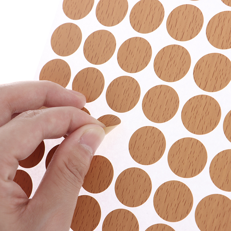 1 Table Caps White Maple Wood Self-Adhesive Screw caps Dust Label 21 mm 54 in 1 Self-Adhesive Labels for Screw Holes