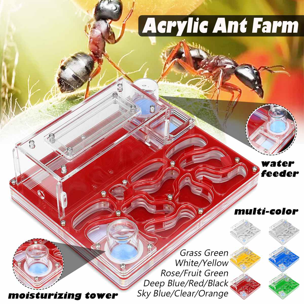 Ant Farm Tools Ant Nest Accessories Acryl Anthill Supplies Ant Caring Set 10in1
