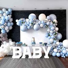 Big-Blue Balloons Garland Shower-Balloon Party-Decor Baby First Boy Birthday Kids
