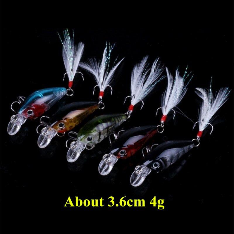 Super Deal Multiple Colors Mini Crankbait Fishing Lure Hard Plastic Crank Bait with Treble Hook Fishing Accessories
