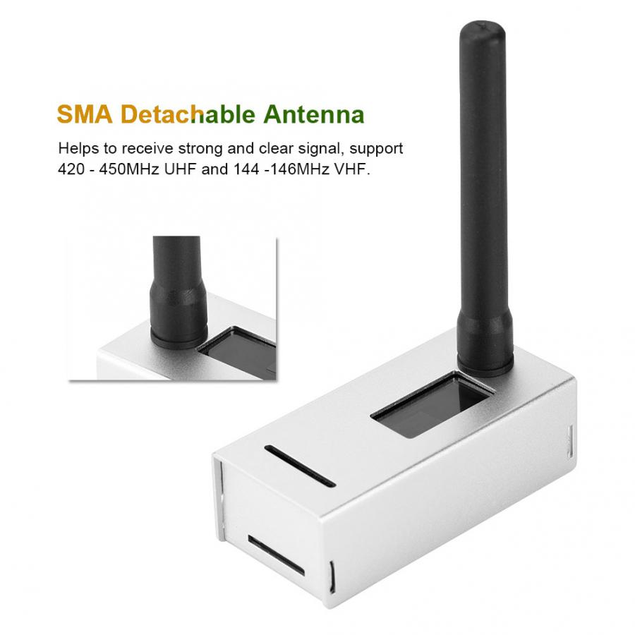 Antena Pantalla OLED Soporte UHF y VHF C4FM YSF NXDN DSTAR P25 DMR Completamente Ensamblado y Probado 8G TFT Card MMDVM Hotspot Board MMDVM Hotspot Raspberry Pi Zero