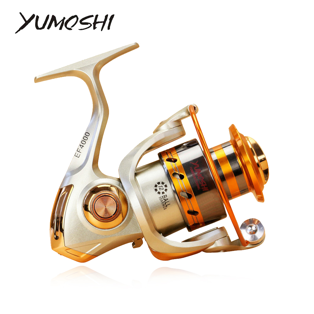 Ball-Bearings Fishing-Reel Metal-Spool Spinning Carp 12BB Ef1000-7000-Series title=