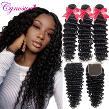 Cynosure Deep-Wave-Bundles Weave Human-Hair Remy with Ratio Medium