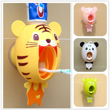 Toothpaste-Squeezer Bathroom-Accessories-Set Automatic Suction Cartoon Sucker Child