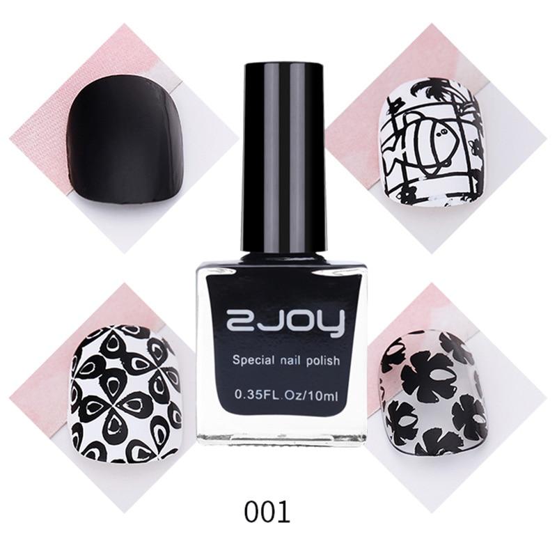 10ml/Bottle Black White Nail Stamping Polish Nail Art Plate Printing Lacquer Gold Silver Nail Stamp Varnish