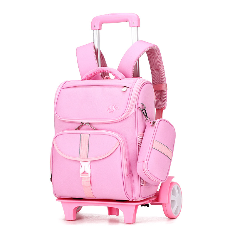 2020 Student School bag Rolling Backpack 6-11 year kids Trolley bag school backpack wheeled bag Children Trolley backpack wheels