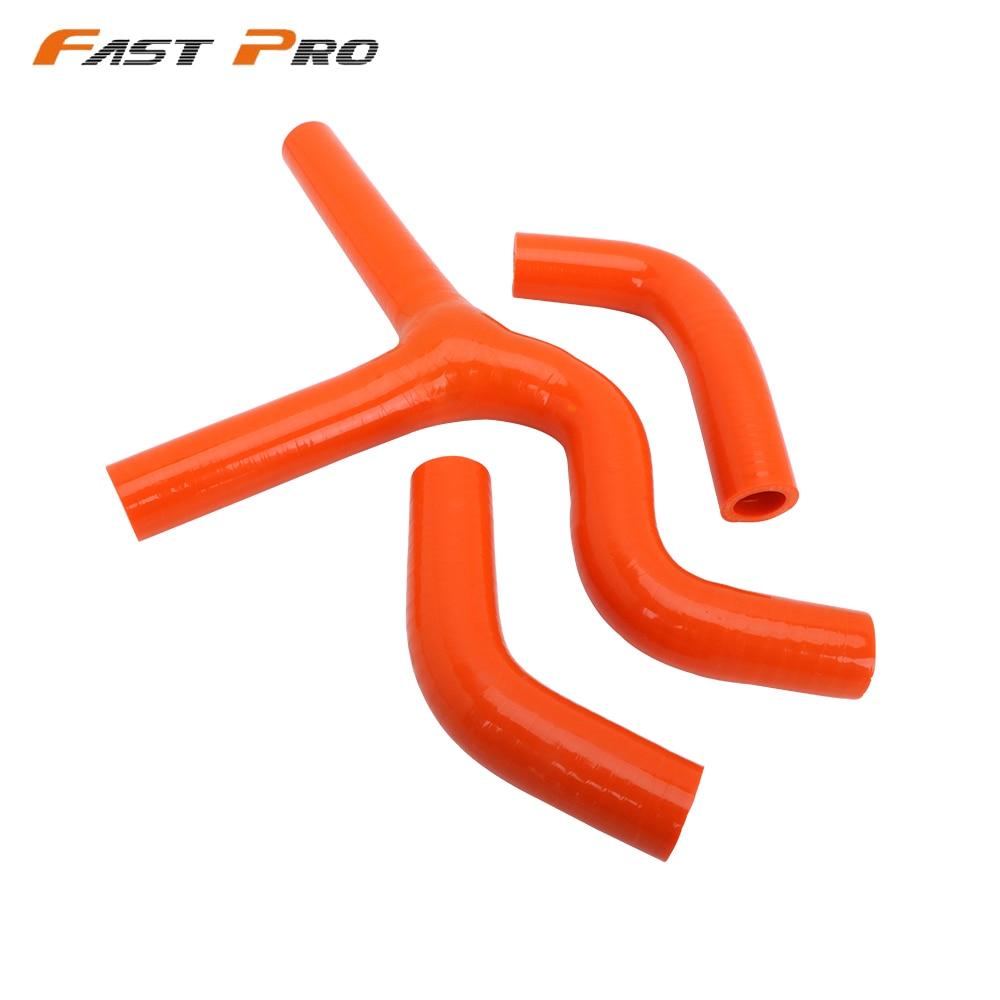 Un Kit de mangueras de refrigerante para radiador de Silicona Reforzada Xin Orange para Motocicleta KTM 250 350 SXF XCF 2011-2014 Enduro Dirt Pit Bike Racing Offroad