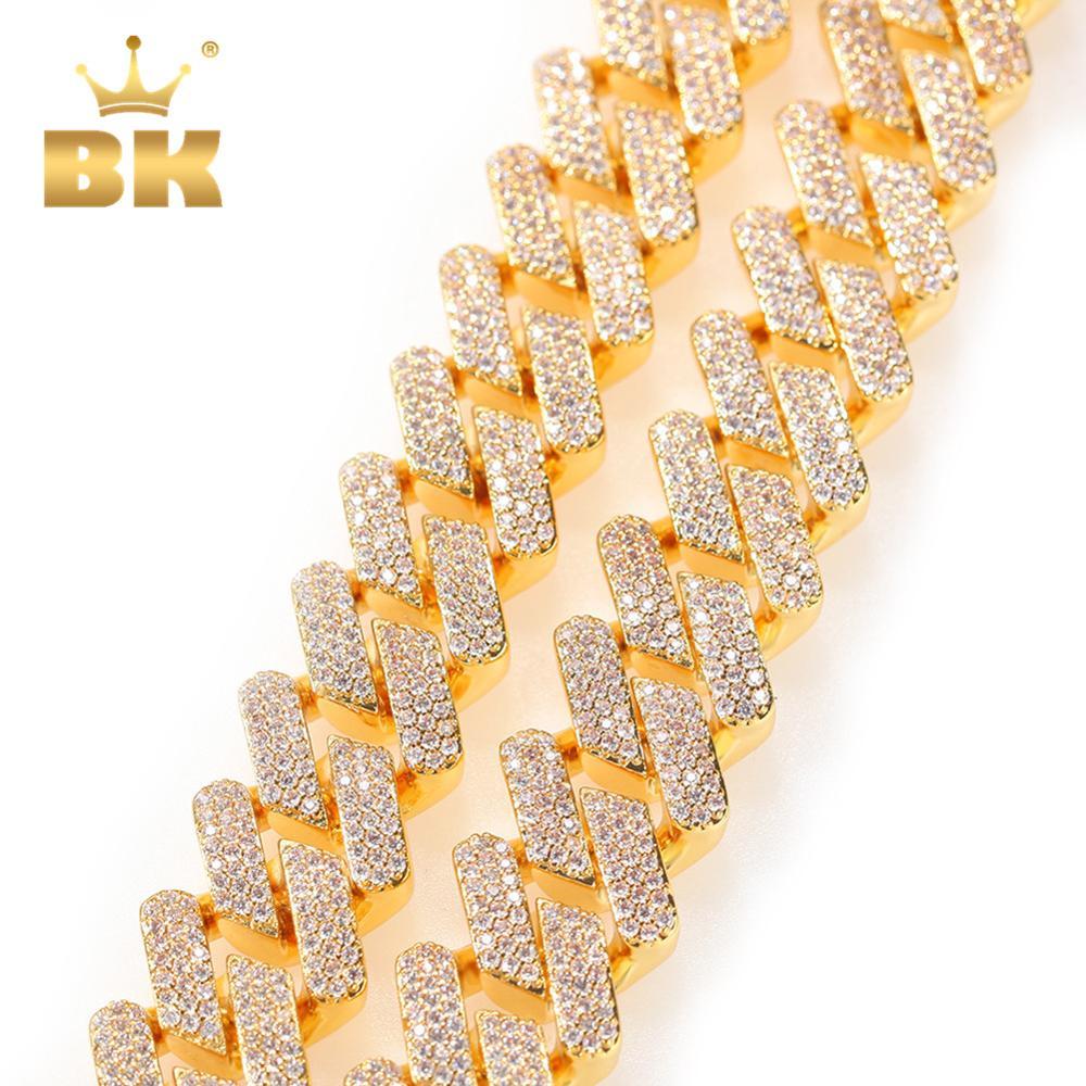 Hommes Femmes Perles Bracelet Grand Mince plaque incrusté cristal 24k Noir Plaqué Or