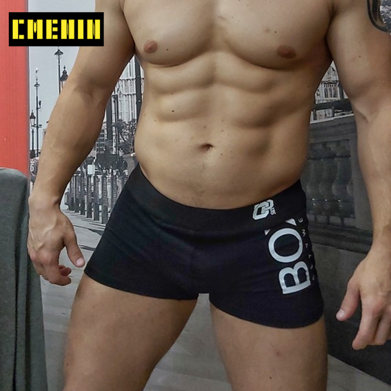 New Brand Comfortable Sexy Men Underwear Boxer Shorts Striped Underpants Cotton Mens Boxershorts Underware Boxers Freegun OR212
