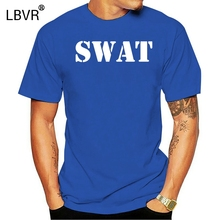 SWAT T-SHIRT - Special Weapons Tactics - Costume, Fancy Dress hip hop men t shirt