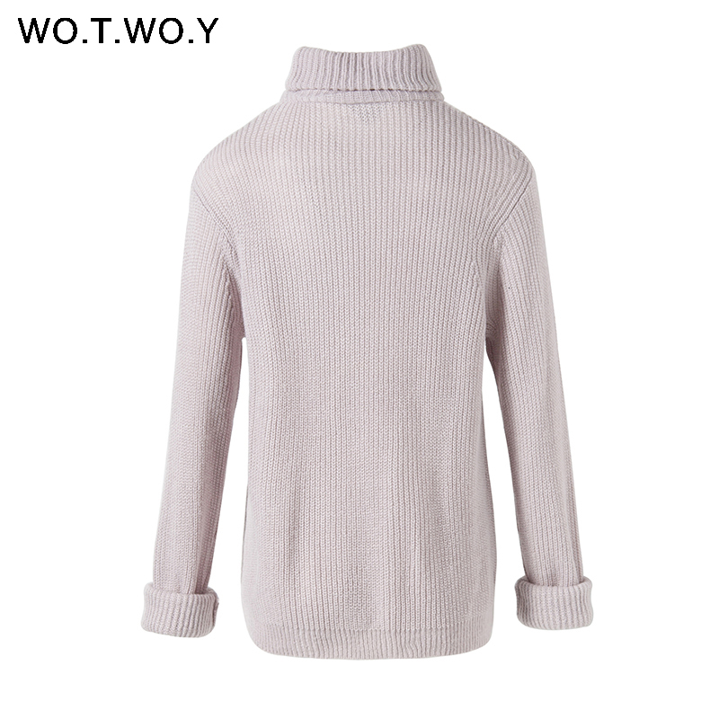 Autumn Winter Turtleneck Sweater Women 2018 Long Knitted Pullovers Women Loose Casual Sweaters Female Jumper Cashmere