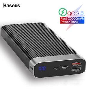 Baseus 20000 mAh Quick Charge 3,0 power Bank 20000 mAh type C PD QC3.0 портативное Внешнее зарядное устройство power bank для Xiaomi Mi
