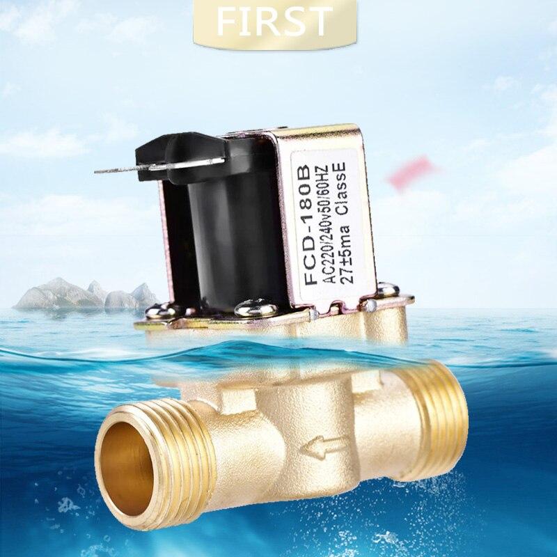 V/álvula Magn/ética Solenoide El/éctrica de Lat/ón Normalmente Cerrada de 1//2DC 24V para Control de Agua
