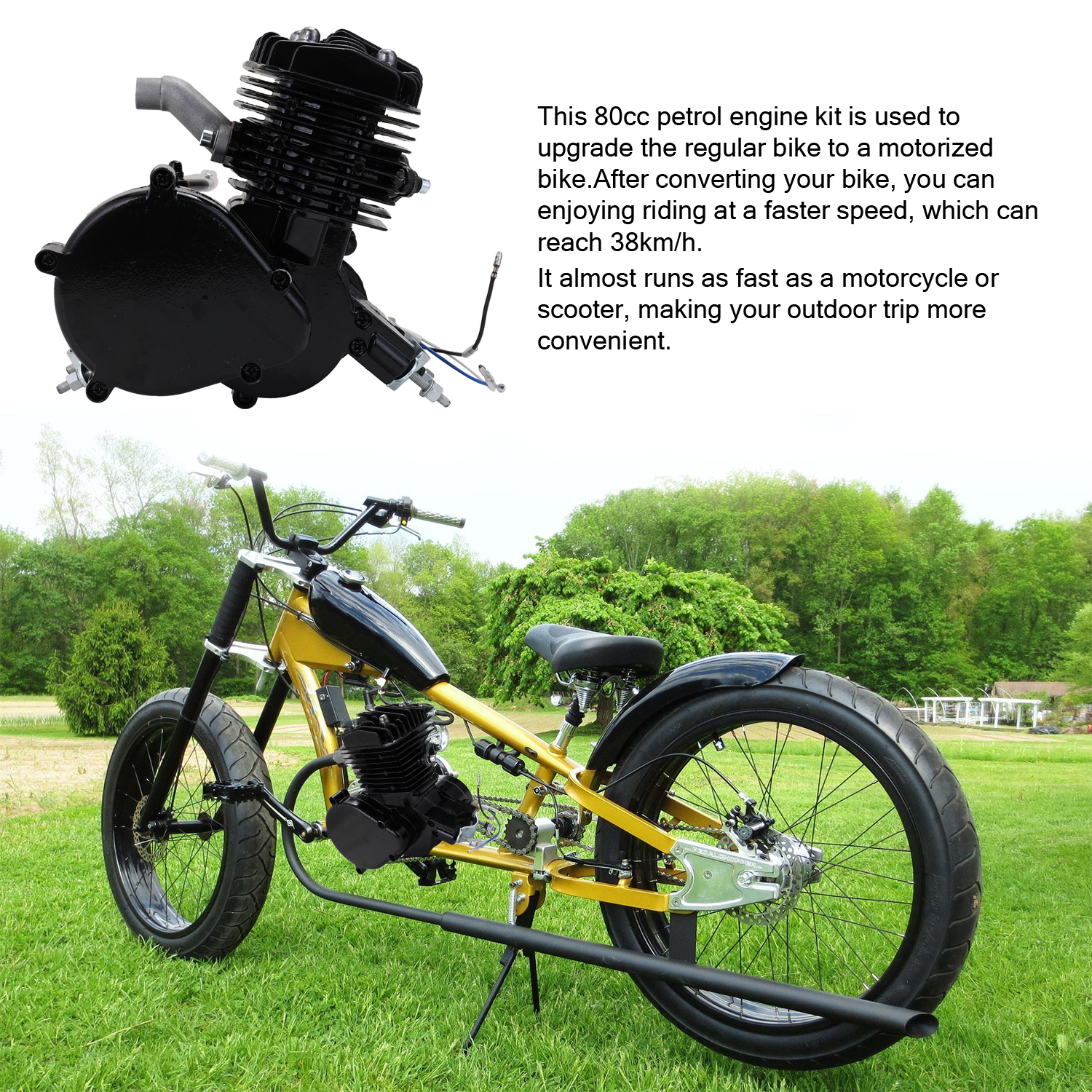 Chain Guide Petrol Gas Motorised Bicycle Engine Conversion Kit