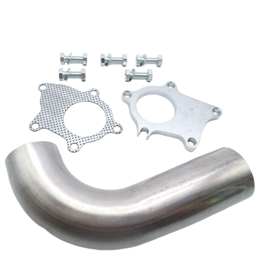 yjracing 2.5 Genuinel T409 Bright Stainless Steel Narrow Band Exhaust Seal Clamp Muffler Pipes Connect w// 1 Block