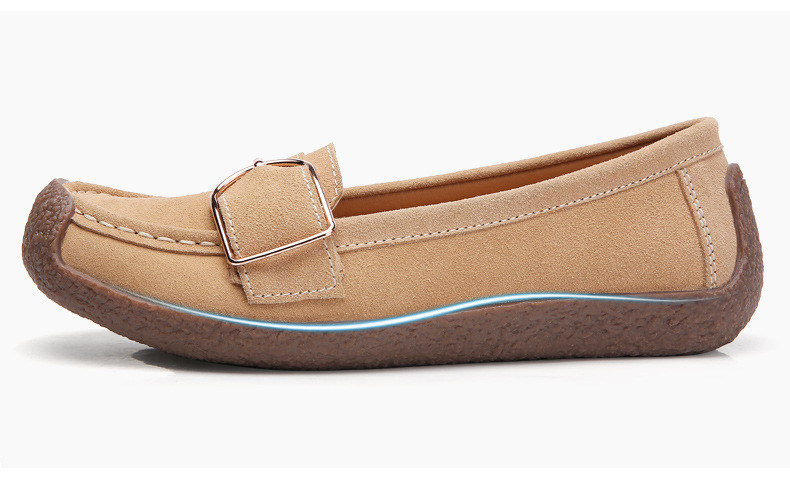 HX 7038-Spring Autumn Cow Suede Leather Women Flats-3