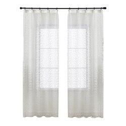 Тюль из органзы NAPEARL с жаккардовым дизайном, современные занавески в европейском стиле для домашнего декора, прозрачные белые шторы на окна