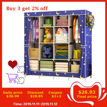 Cloth Wardrobe Storage Cabinet Fabric Closet Folding Dustproof Reinforcement Best-Price