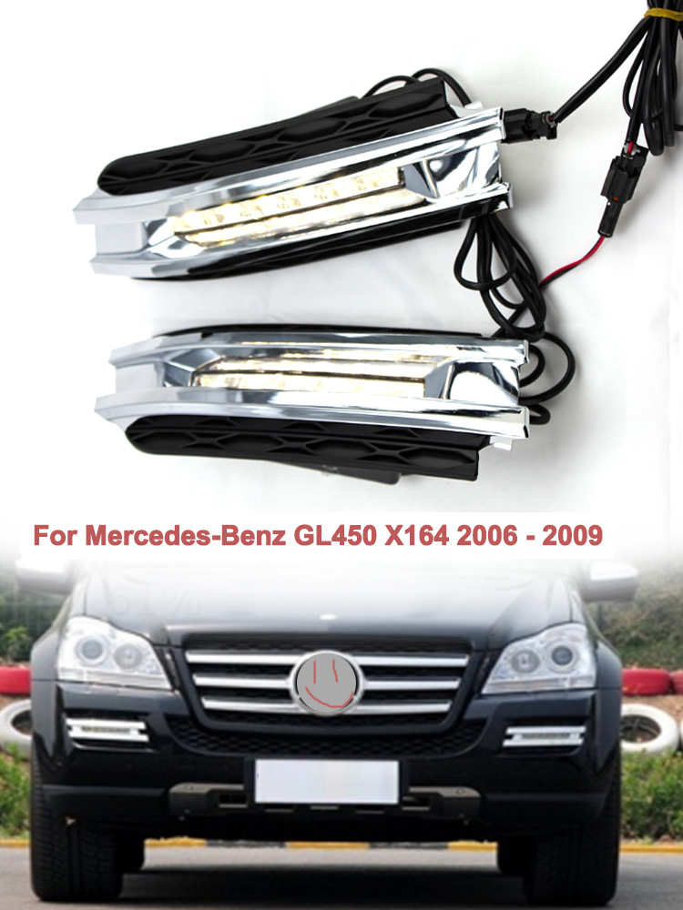 Pair of Front Fog Light Bumper Grille With Hole Fit for BMW F20 F21 2010-2012