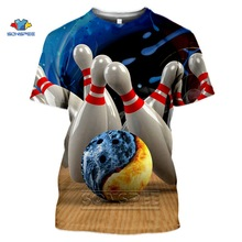T-Shirt Fashion Sports-Bowling Tops Short-Sleeve Full-Printing 3D SONSPEE Casual Pullover