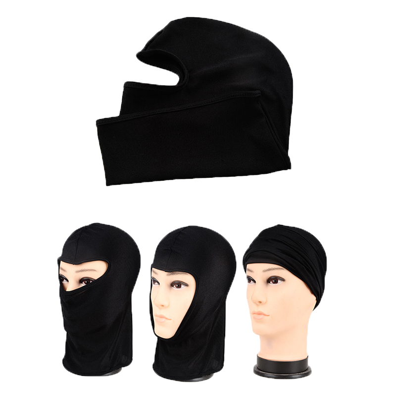 Thin Elastic Dustproof Lycra Motorcycle Cycling Helmet Balaclava Full Face Mask title=