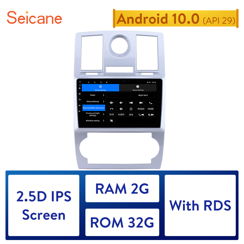 Seicane Android 10.0 2DIN 2GB RAM Car Head Unit Radio Audio GPS Multimedia Player For Chrysler Aspen 300C 2004 2005 2006-2008