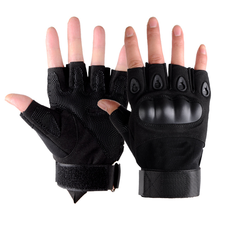 Fingerless-Gloves Combat-Gloves Military Tactical Hunting Hands-Protector Motocross Non-Slip title=