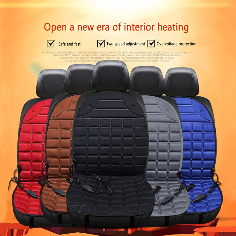 Cushion Seats-Warmer Heated Car Winter 12V Cardriver title=