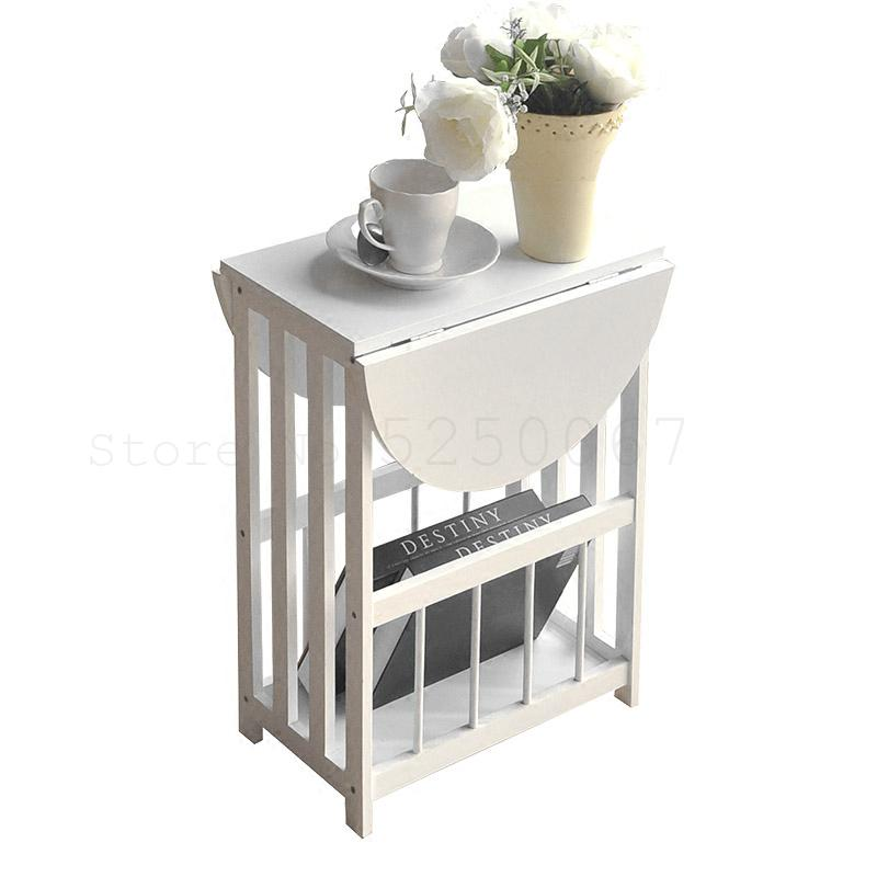 Small Tea Table, Folding, Solid Wood, Sofa, Cabinet, Small House, Modern, Simple, Multi-functional, Simple, Small Side Table In