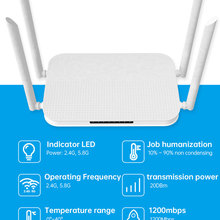 Wifi-Router Gigabit Dual-Band AC1200 USB2.0 4 with English/russia Firmware A/ac L2tp/pptp