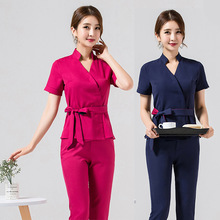 Spa-Uniform Thai-Massage Cosmetologist Costume-Set Technician Beauty Salon Smocks Foot-Bath