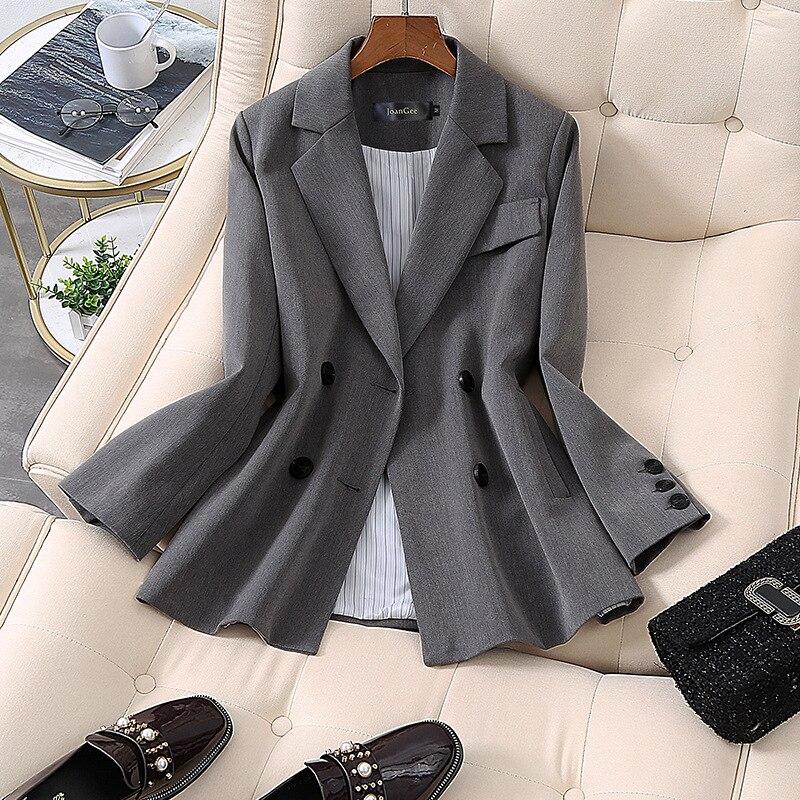 Fashion Casual Business suit women Blazers Spring high quality Plus size gray suit 5XLReceive  waist OL suit women Tops NEW
