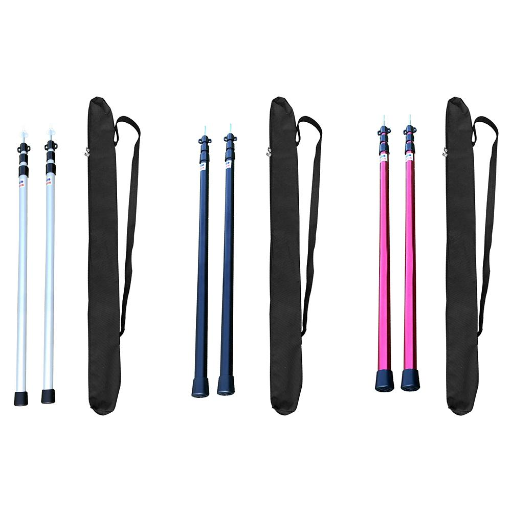 2Pcs Outdoor Tent Pole Rod Aluminium Telescoping Tent Pole for Camping Awning