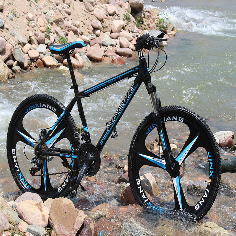 Mountain bike 21 speed mechanical disc brakes 26 inch variable speed drive Bicycle male and female students cycling Bicycle title=
