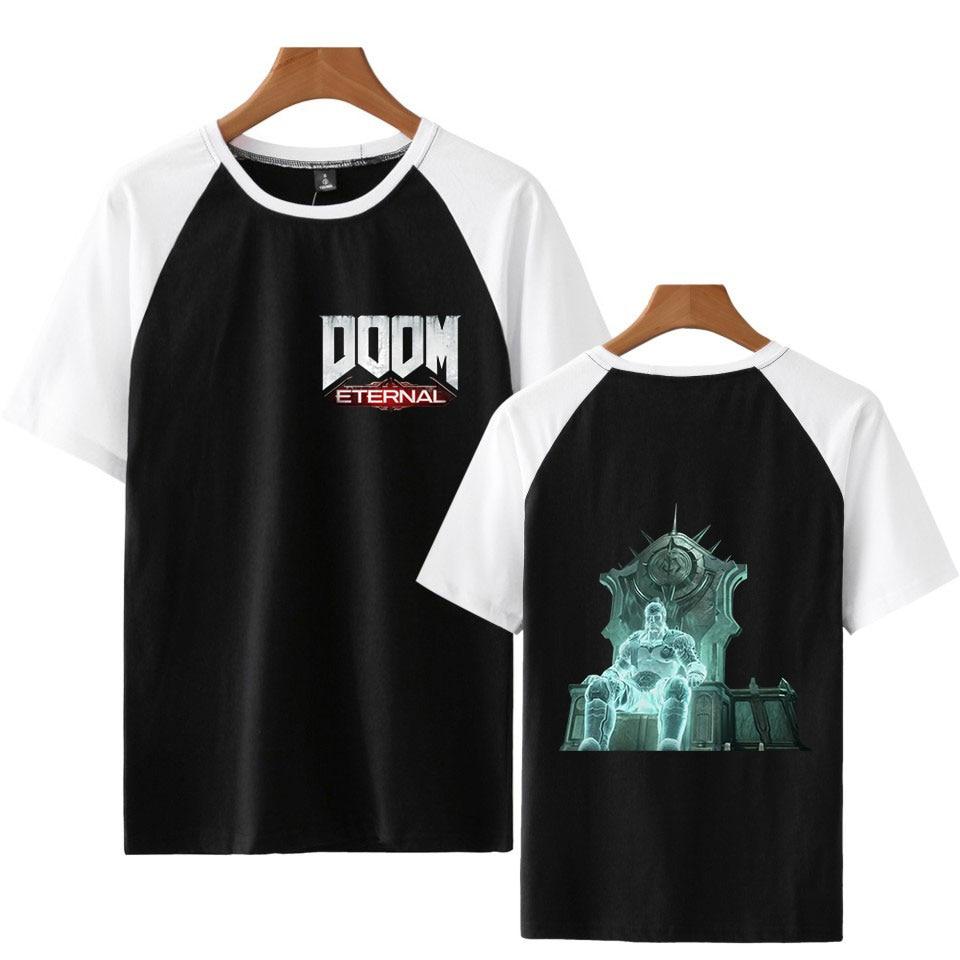 Short Sleeve  Casual Patchwork Doom Eternal T Shirt Men T-Shirt Male Tee Captain  tshirt Men Fitness  Shirt