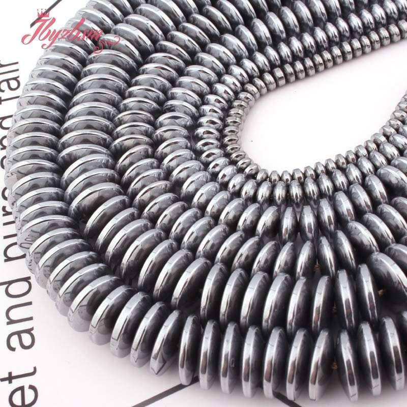 """3x6mm heishi rondelle disco metálico recubierto Hematites piedra espaciador granos flojos 15/"""""""