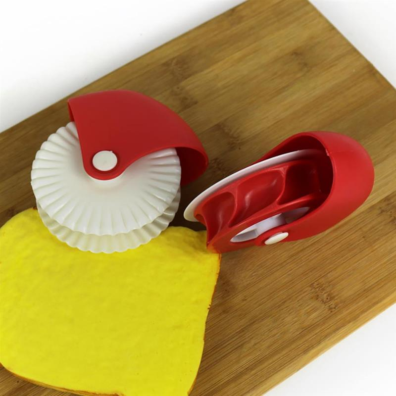 Home Cooking Cutter Plastic Wheel Roller Pizza Pastry Lattice Cutter Pastry Pie