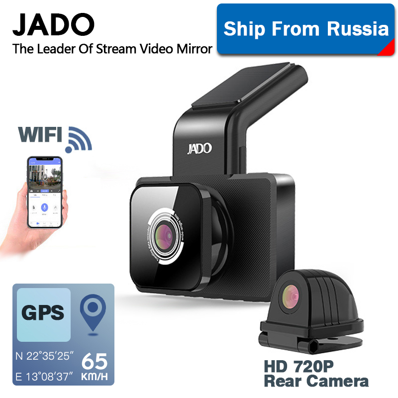 JADO D330 Car DVR Camera WIFI Speed N GPS Dashcam FHD 1080P Dash Cam 24H Parking Monitor car registrar Night Vision title=