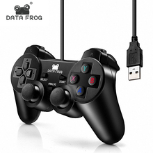 Vibration-Joystick Gamepad Pc-Controller Computer Wired Laptop Data-Frog Win8/win10 Black