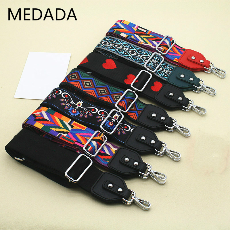 MEDADA Women's Nylon Cross Body Messenger Belt For Bag Accessories Bag Strap Handbag Belt Wide Shoulder Bag MD59 title=