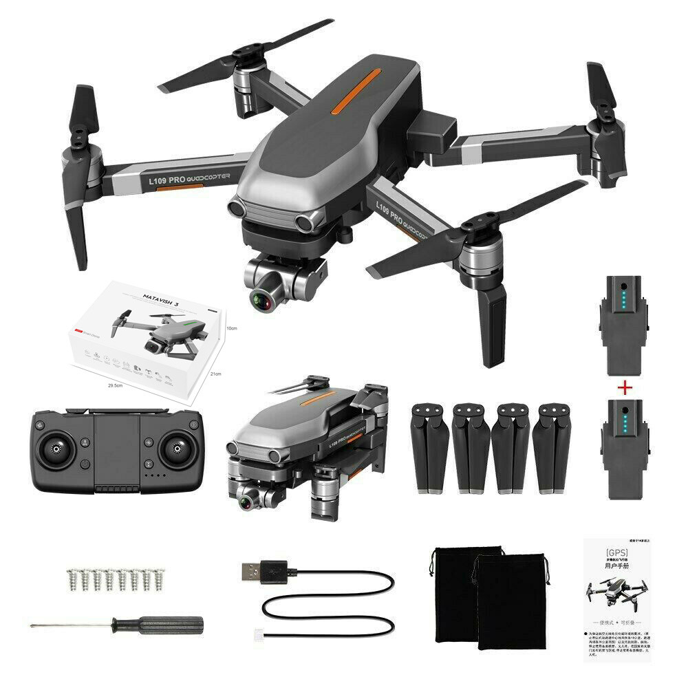 Cushion - L109PRO GPS Drone 4K Quadcopter HD ESC Camera Brushless 5G WiFi FPV HD ESC Camera Brushless Helicopter Long Flight Time