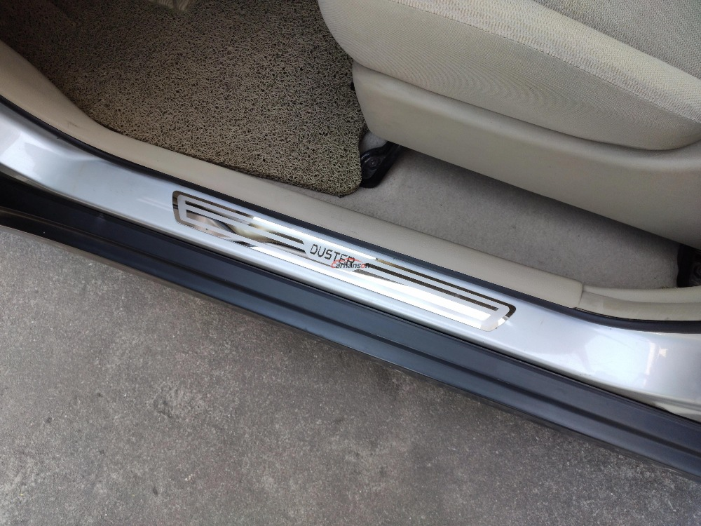 para Dacia Duster Logan Sandero 2 Dokker FSXTLLL Umbral de Puerta Door Sill Pedal para Puerta Pegatinas
