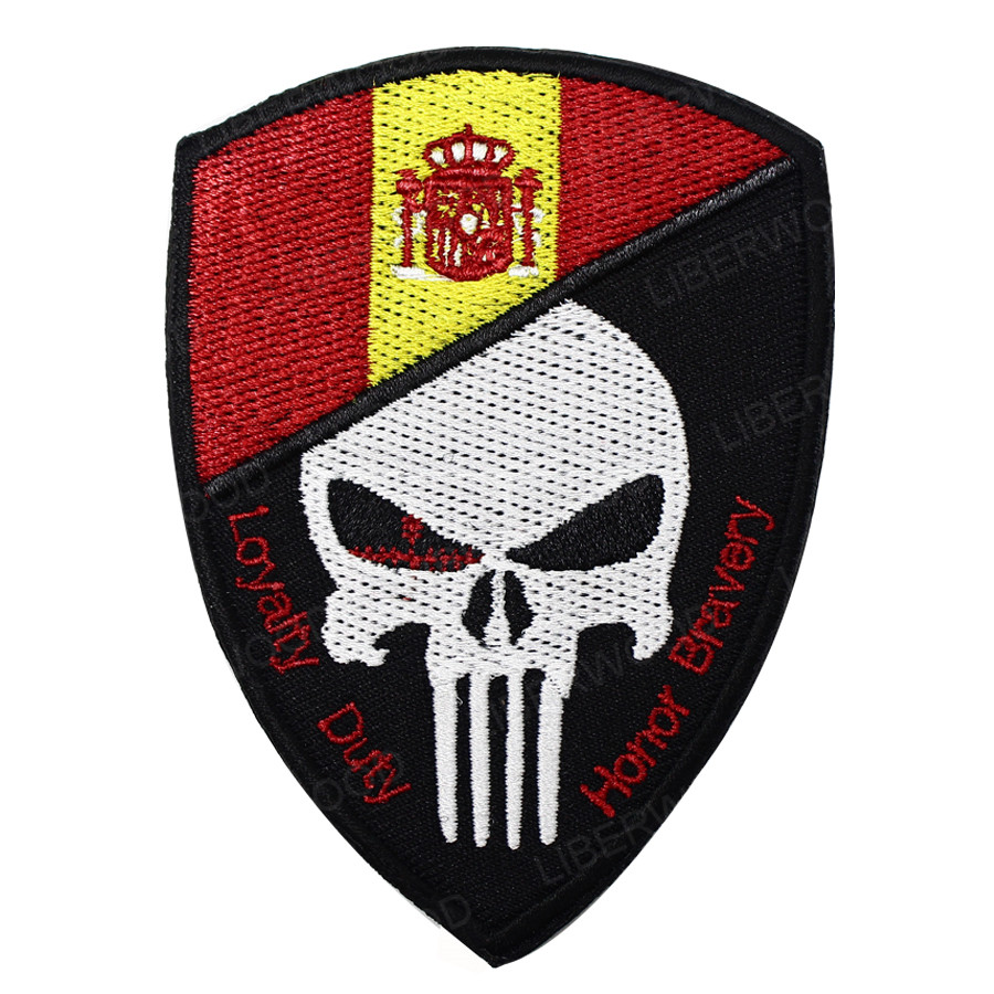 American By Birth,Patriot By Choice Punisher Skull Morale Patch Tactical Hook