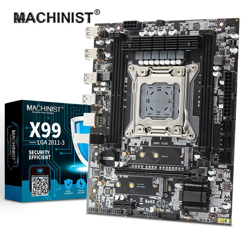MACHINIST Desktop Slot-Support DDR4 SATA3.0 Four-Channels Dual-M.2 NVME with X99 USB3.0 title=