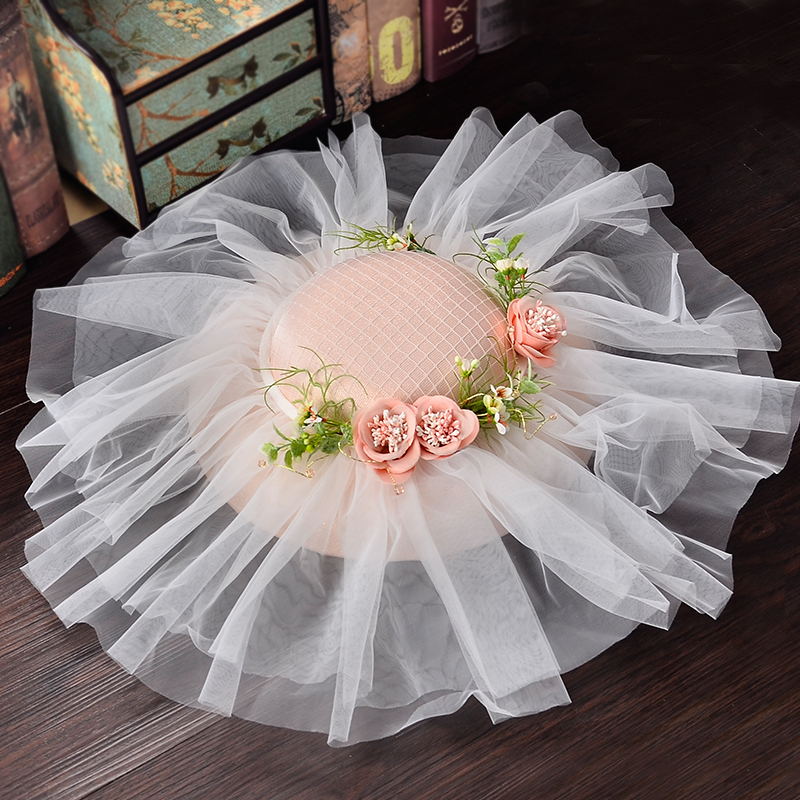Bride Hat Women Trip Hat Wedding Party Accessories of Bride  Flower Girl Graduation Girl Hat Gift