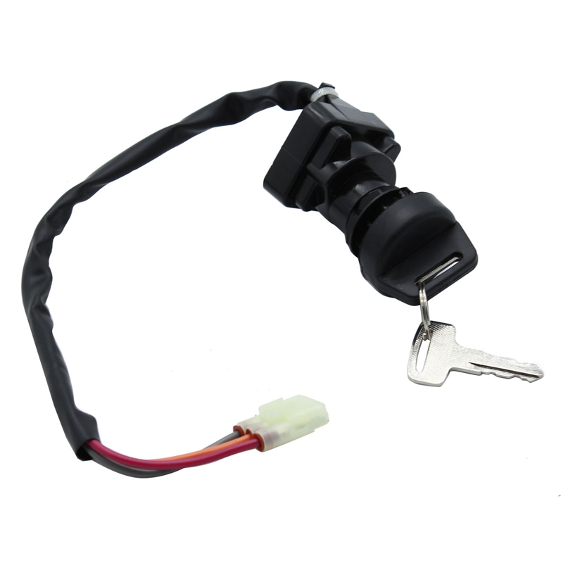uxcell 4 Terminal Wired Motorcycle Security Ignition Electric Door Lock with Keys for Yamaha